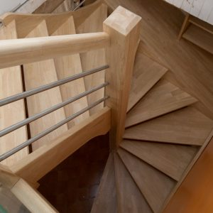 Escalier Colimacon Carre Gain De Place Helicoidal Bois Design